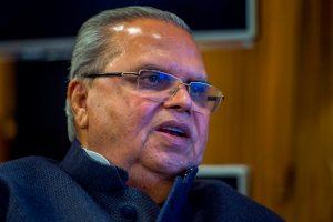 Srinagar: Jammu and Kashmir Governor Satya Pal Malik during an Interview with PTI, in Srinagar, on Tuesday, October 16, 2018. ( PTI Photo/S Irfan)(Story No. DEL 66)(PTI10_16_2018_000159B)