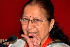 Guwahati: Lok Sabha Speaker Sumitra Mahajan addresses during the inauguration ceremony of 17th Commonwealth Parliamentary Conference, in Guwahati, Monday, October 8, 2018. (PTI Photo) (PTI10_8_2018_000071B)