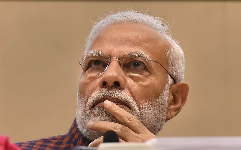 New Delhi: Prime Minister Narendra Modi at the silver jubilee celebration of National Human Right Commission, in New Delhi, Friday, Oct 12, 2018. (PTI Photo/Atul Yadav) (PTI10_12_2018_100098B)