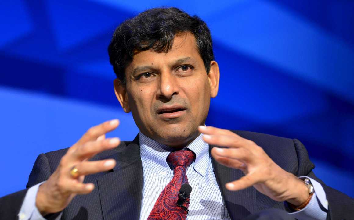 India's Reserve Bank Governor Raghuram Rajan makes remarks during a seminar on 'The New Normal in Asia: Will Growth Inevitably Slow?' at the IMF and World Bank's 2015 Annual Spring Meetings, in Washington, April 16, 2015. REUTERS/Mike Theiler