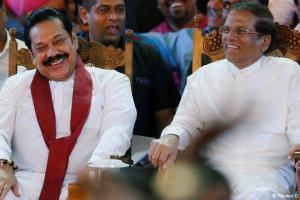 Mahindra Rajpaksa Sirisena Reuters