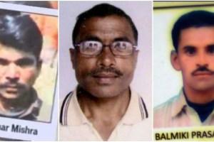 बिहार में मार दिए गए आरटीआई कार्यकर्ता शशिधर मिश्रा, रामकुमार ठाकुर और वाल्मीकि यादव (बाएं से दाएं).