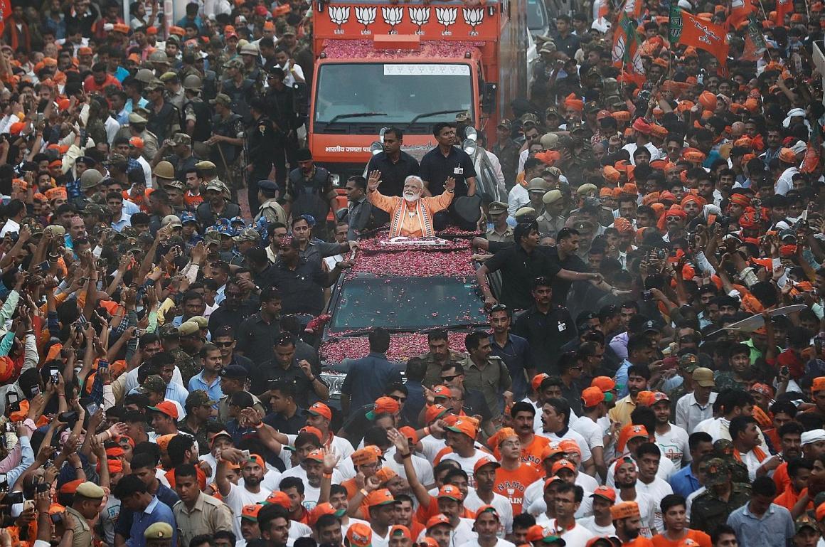 Narendra Modi Varanasi Road Show Reuters