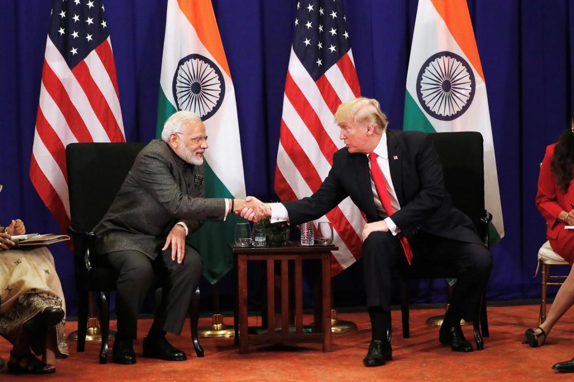 U.S. President Donald Trump shakes hands with India's Prime Minister Narendra Modi during a bilateral meeting alongside the ASEAN Summit in Manila, Philippines November 13, 2017. REUTERS/Jonathan Ernst