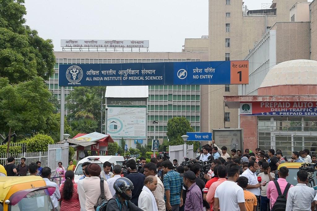 नई दिल्ली स्थित एम्स. (फोटो: पीटीआई)