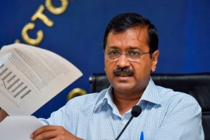 New Delhi: Delhi Chief Minister Arvind Kejriwal addresses a press conference, in New Delhi, Friday, Sept. 6, 2019. (PTI Photo/Ravi Choudhary) (PTI9_6_2019_000042B)