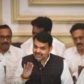 Mumbai: Maharashtra CM Devendra Fadnavis, BJP Maharashtra President Chandrakant Patil, BJP Maharashtra in-charge Bhupendra Yadav and others during a press conference in Mumbai, Tuesday, Nov. 26, 2019. Fadnavis on Tuesday resigned as Maharashtra Chief Minister  (PTI Photo/Shashank Parade)(PTI11_26_2019_000150B)