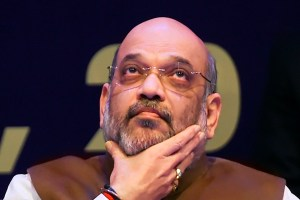 New Delhi: Home Minister Amit Shah during the 32nd Intelligence Bureau (IB) Centenary Endowment Lecture at Siri Fort auditorium, Monday, Dec. 23, 2019. (PTI Photo/Shahbaz Khan)(PTI12_23_2019_000019B)