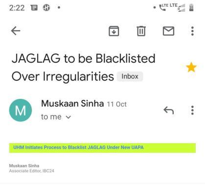 Email Snooping JAGLAG