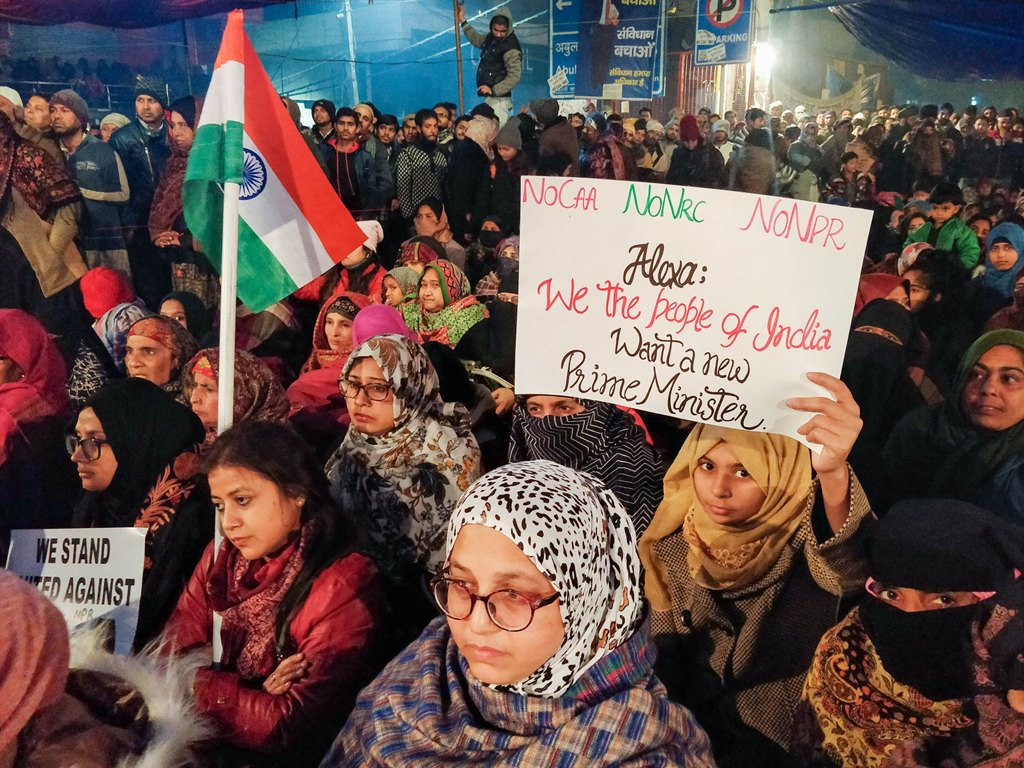 New Delhi: Protesters gather at Shaheen Bagh to oppose the amended Citizenship Act, in New Delhi, Tuesday, Dec. 31, 2019. (PTI Photo) (PTI12_31_2019_000226B)