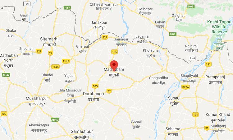 Madhubani Bihar map