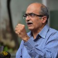 New Delhi: Activist-lawyer Prashant Bhushan addreses a press conference, after Supreme Court imposed a token fine of one rupee as punishment in a contempt case against him, in New Delhi, Monday, Aug. 31, 2020. (PTI Photo/Kamal Kishore)(PTI31-08-2020_000104B)