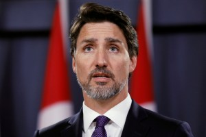 Canada's Prime Minister Justin Trudeau speaks during a news conference in Ottawa, Ontario, Canada January 9, 2020. REUTERS/Blair Gable
