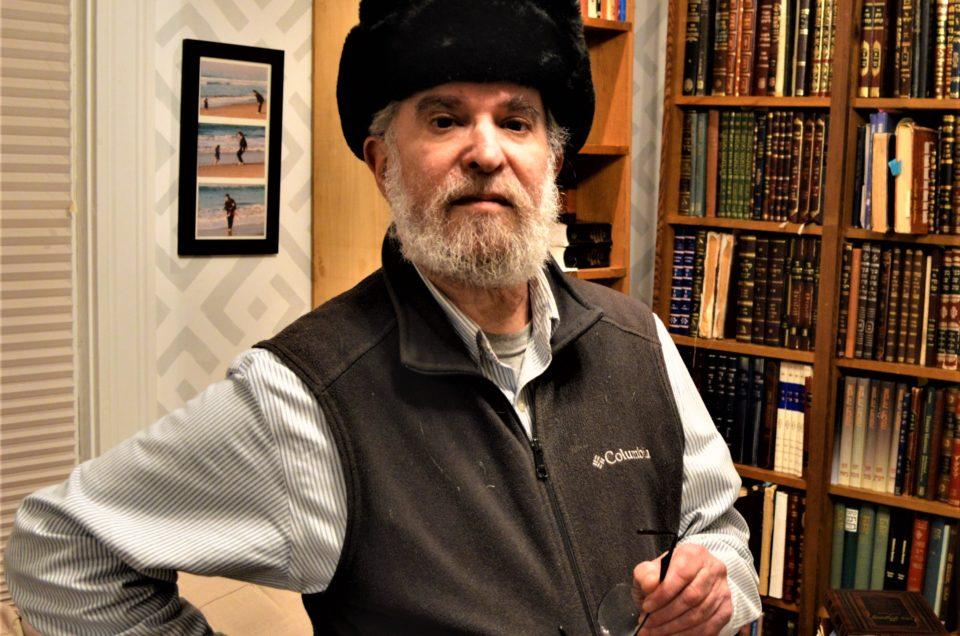 Rabbi Eliahu Klein at his home in Providence. Photo - Shai Afsai (2)