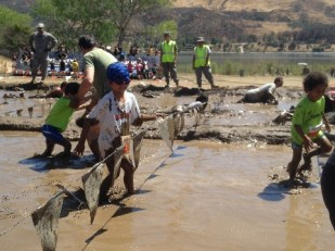 Tackling the mud and being a mini American Ninja Warrior