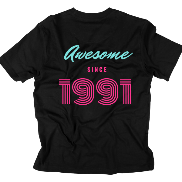 Printed Men Round Black T shirt