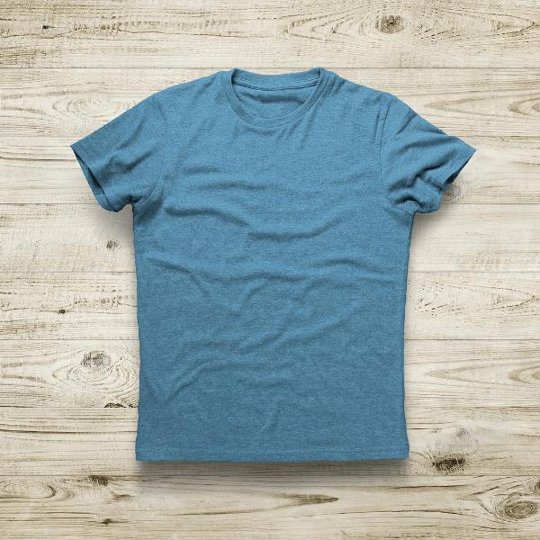 Men Solid Teal Blue T-Shirt Round Neck