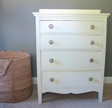 "antique ""old white"" dresser"