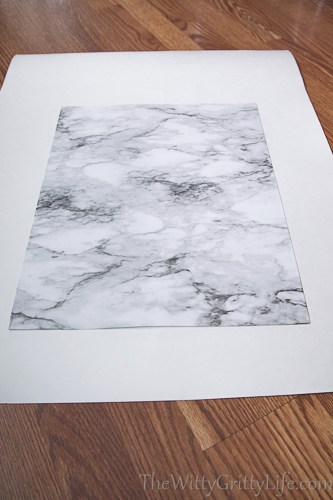 picture of lined cardboard, marble side facing up