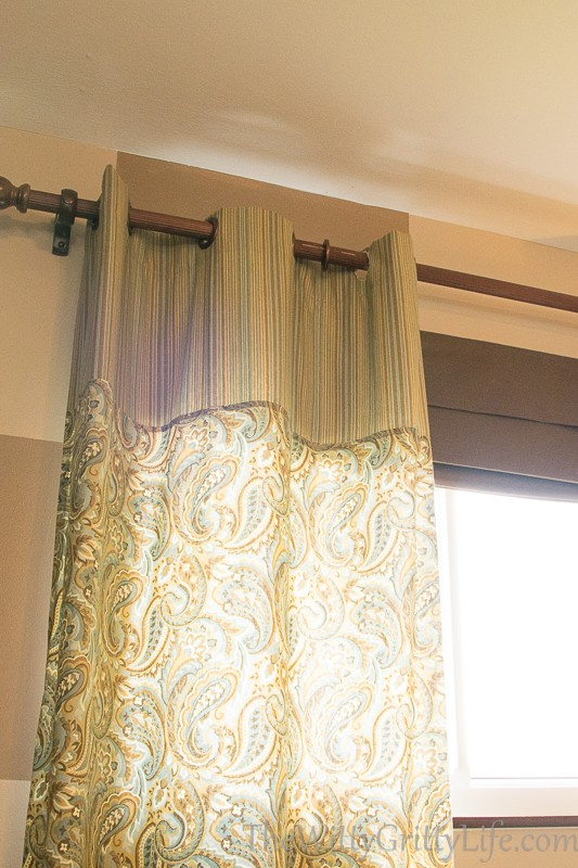 curtain showing grommet undone at the top