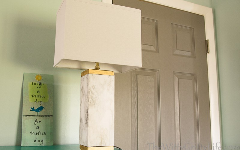 Marble Lamp Hack – how to get the Designer look on a Dime