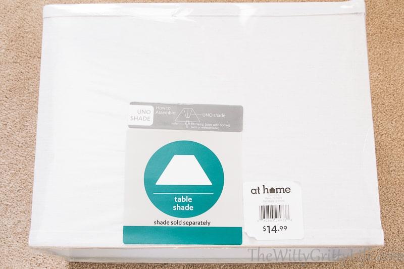 rectangular white lamp shade