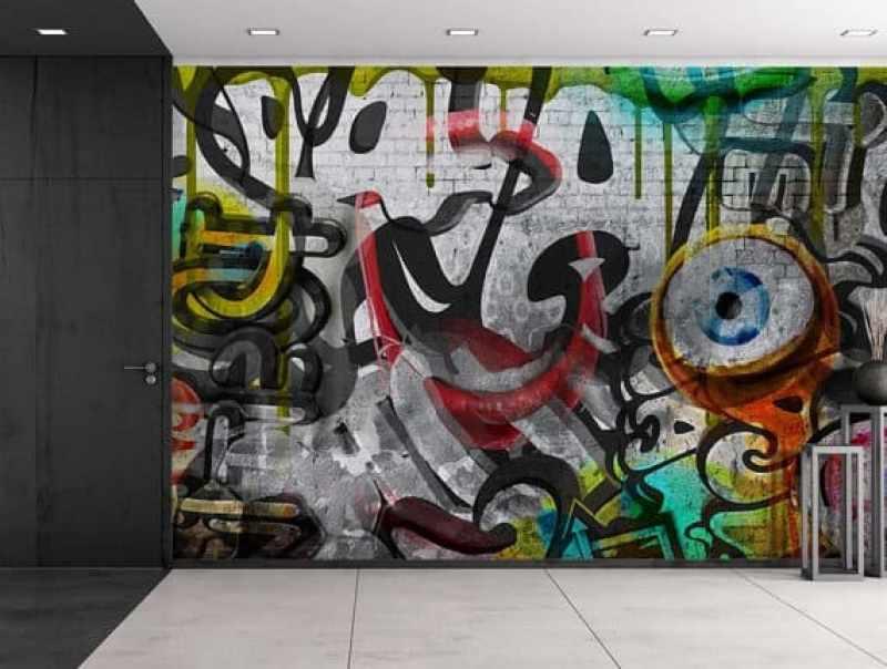 graffiti temporary wallpaper