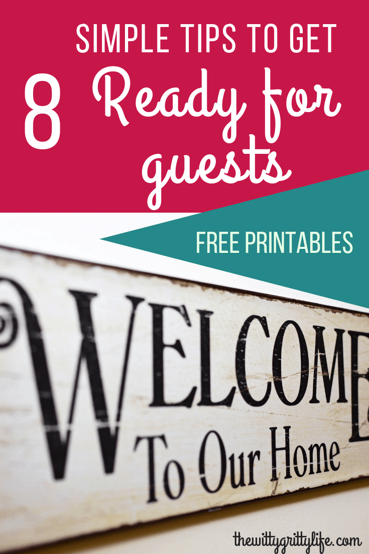 Getting your home ready for guests doesn't need to be stressful! Let me show you how you can get started today to create an inviting atmossphere for your guests and give you time to enjoy your company. Printables included!