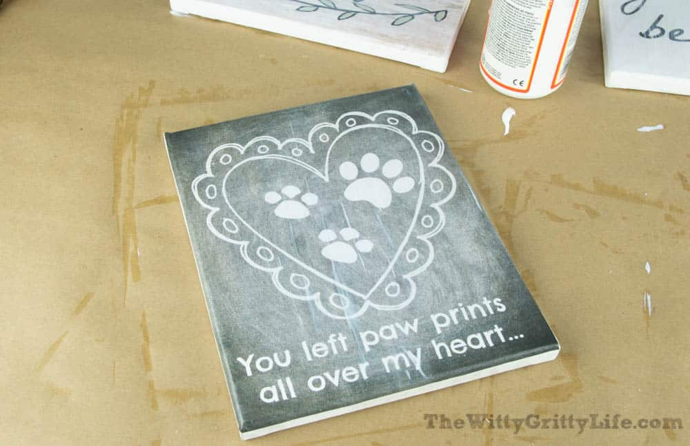 free printable with thin coat of mod podge applied to the front for diy wall signs with quotes