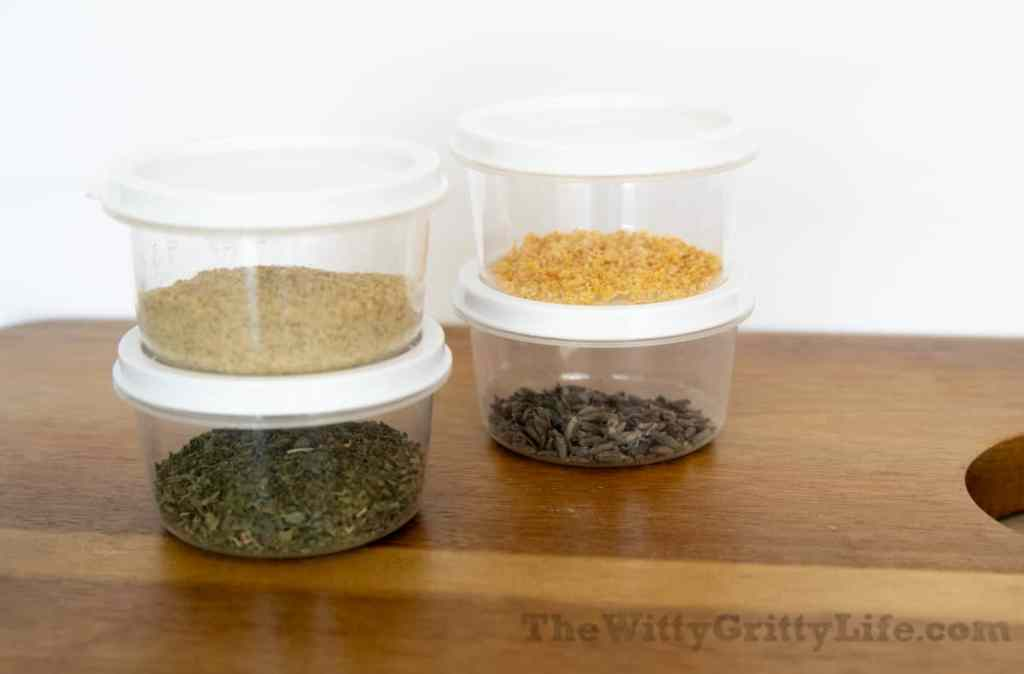 small plastic containers for homemade soap ingredients