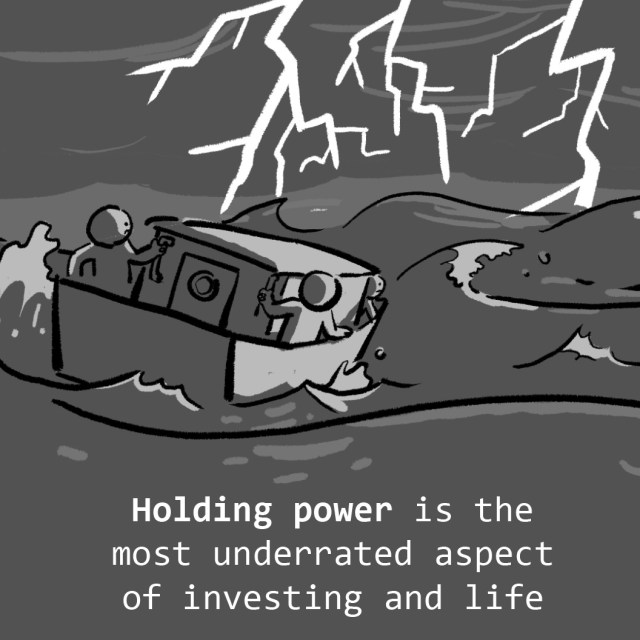Holding power is the most underrated aspect of investing and life