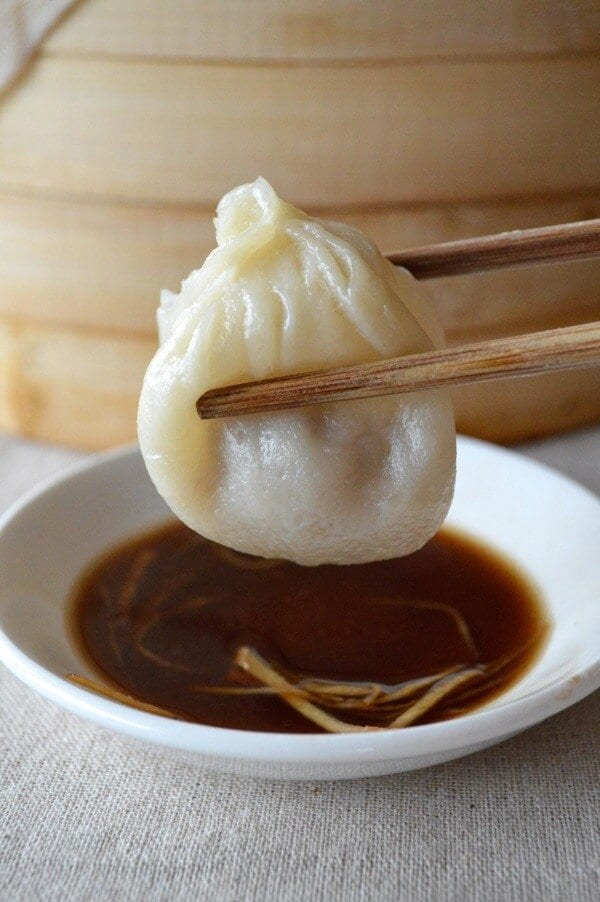 Chinese soup dumpling and vinegar, by thewoksoflife.com
