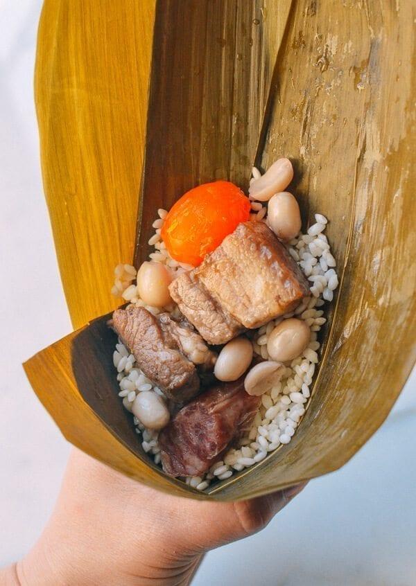 Filling Zongzi (Cantonese Style), by thewoksoflife.com