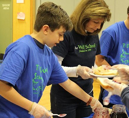 Wolf School staff worked hard to help students and Hasbro team members
