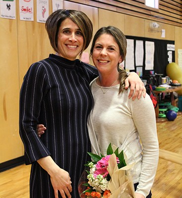Head of School, Anna Johnson, with Meg Jackson Sutton, this year's Founders' Day award recipient