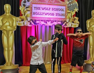 Room 3 students having fun at A Night of Hollywood Stars!