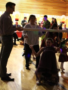 Everyone joined the limbo line!