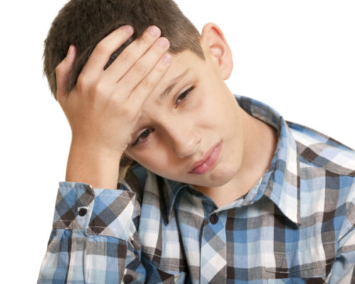 Kid with headache