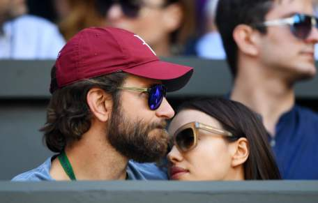Bradley Cooper and Ronaldo's ex girlfriend Irina Shayk during day ten of the 2016 Wimbledon Championships at the All England Lawn Tennis Club, Wimbledon, London on the 6th July 2016 Tennis - Wimbledon Championships 2016 Day Ten All England Lawn Tennis
