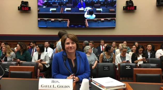 RI's Senator Gayle Goldin Goes to Kavanaugh Hearings