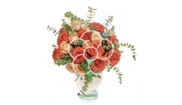 buchet-de-19-trandafiri-galbeni-si-portocalii