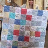 12. The quilt section is finally complete, and your square is ready to display your voice to the world!
