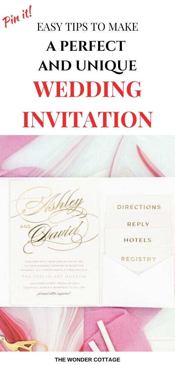 how to make wedding invitations unique