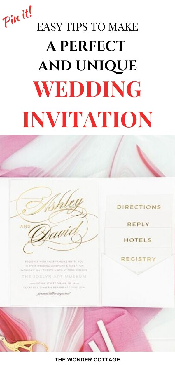 how to make wedding invitations unique