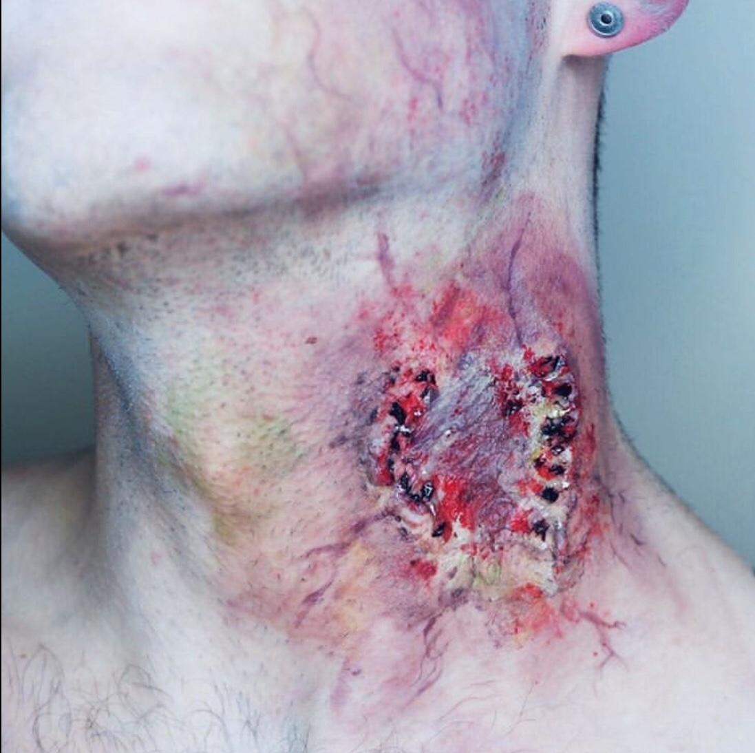 fake wound makeup