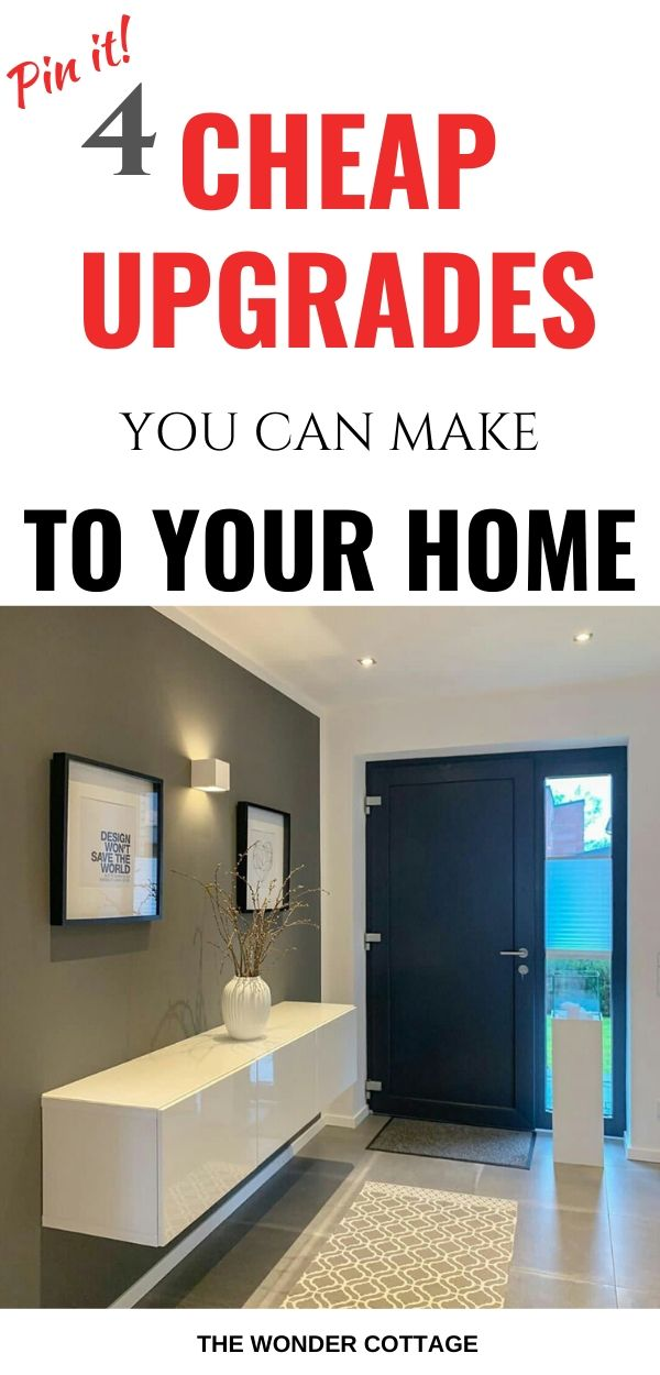 cheap home upgrades