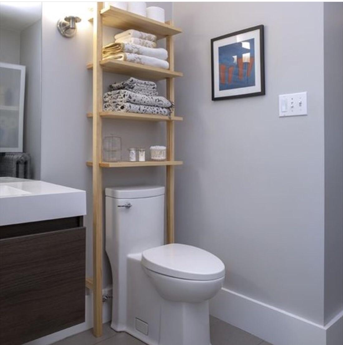 storage on top of toilet
