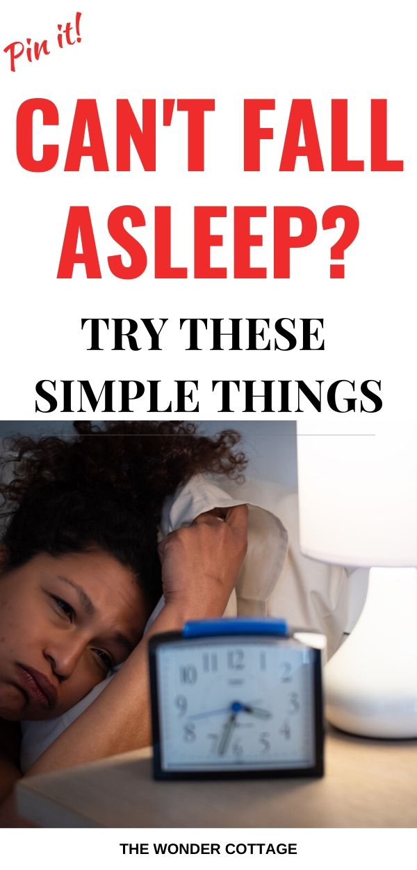 what to do when you cant sleep