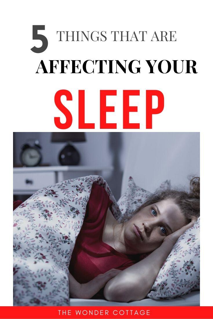 common things affecting sleep