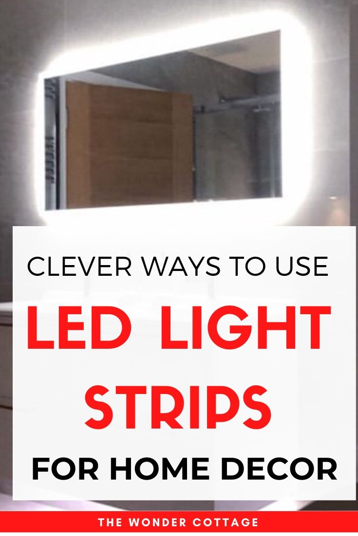 creative ways to use led light strips